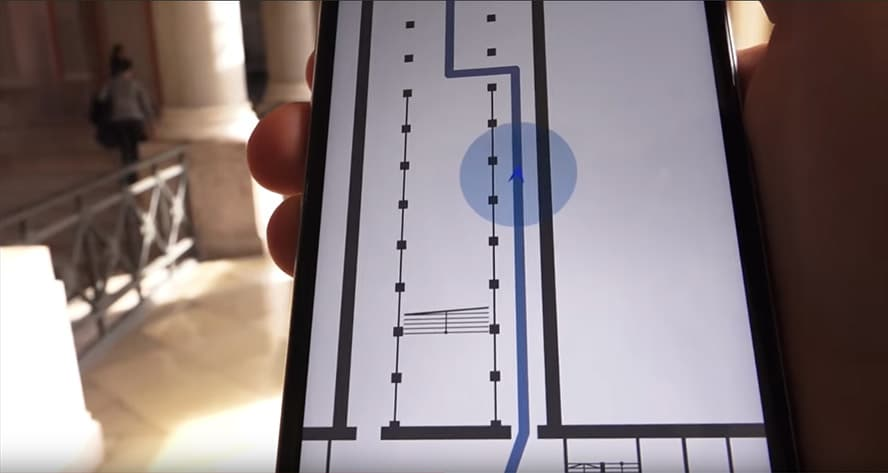 Bokowsky Laymann, BSB Navigator - indoor Navigation mit Beacons, https://youtu.be/p1HkXF0ZeOo