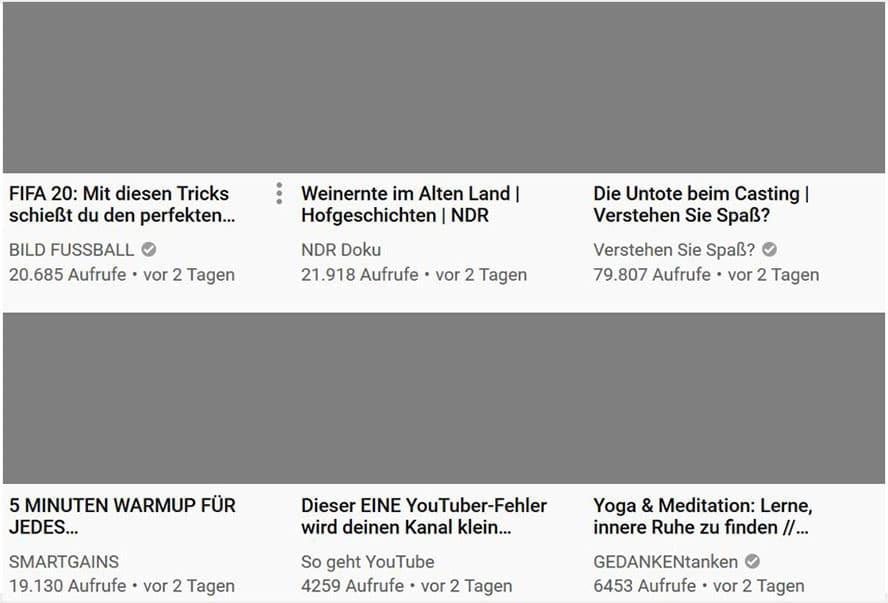 YouTube Startseite-Bild1
