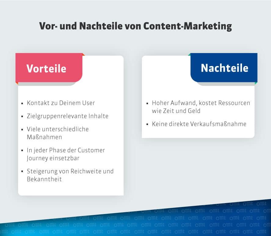 Vor- und Nachteile von Content Marketing