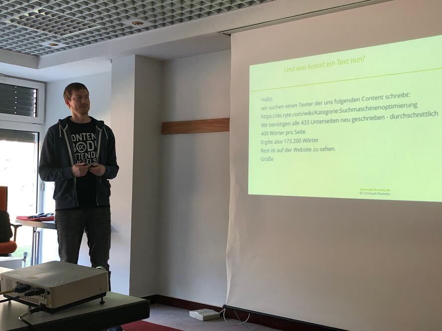 Contentixx 2019 - Christoph Pawletko – Was kostet ein guter(!) Text und was bringt er überhaupt?