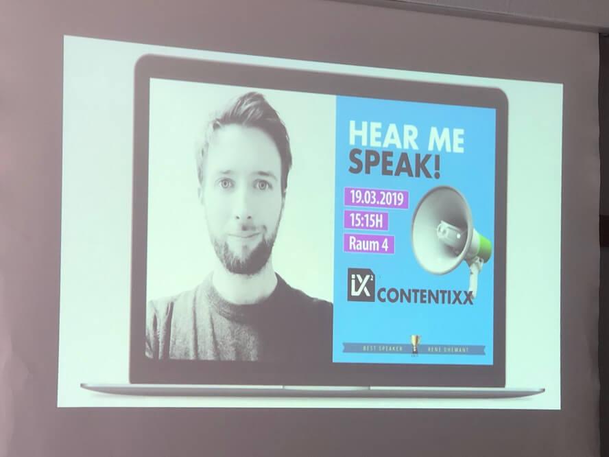Contentixx 2019 - René Dhemant – Einfach gefunden. Schöneres Content-Marketing durch herausragende Inhalte.