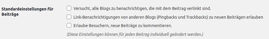 Deaktivierung der WordPress-Kommentarfunktion im Backend