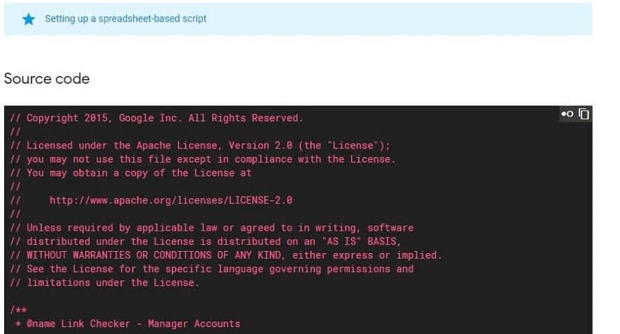Beispiel für Source code