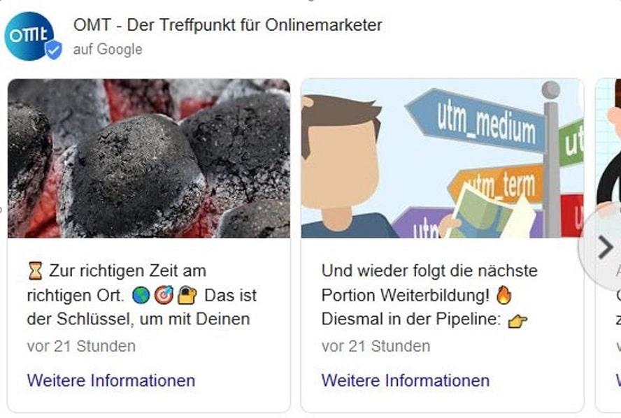 Google My Business Optimierung Funktion der Beiträge