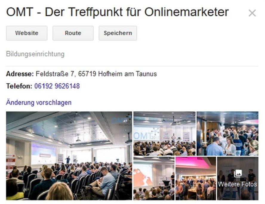 Google My Business Optimierung warum sind Bilder so wichtig