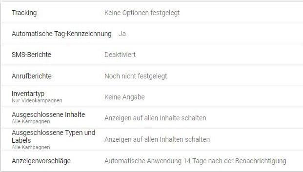 Automatische Tag-Kennzeichnung in den Google-Ads-Kontoeinstellungen