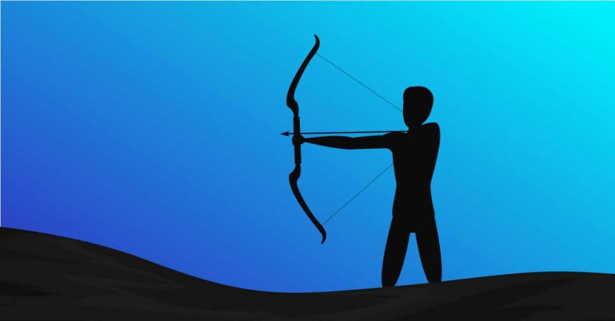 Bogenschütze als Sinnbild für Google-Ads-Kampagnenziele