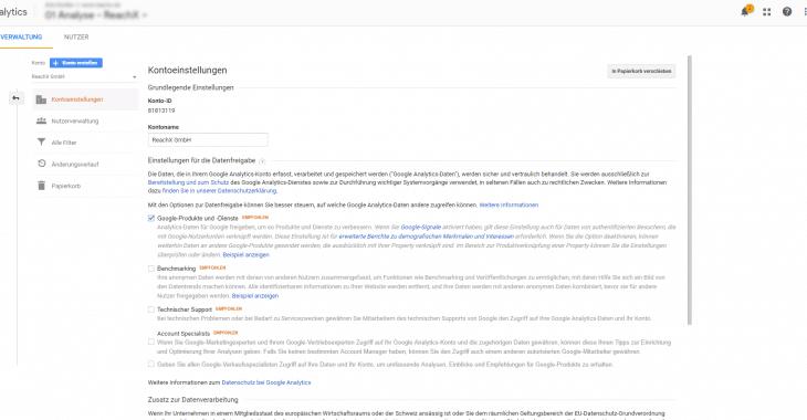 google ads mit analytics verknüpfen kontoeinstellungen 730x380