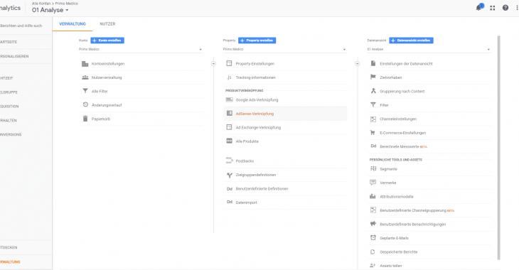 google ads mit analytics verknüpfen weg 1 730x380