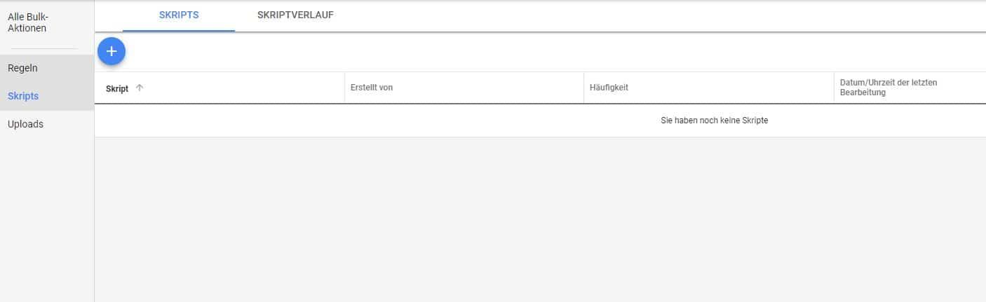 Google-Ads-Skripts im Konto