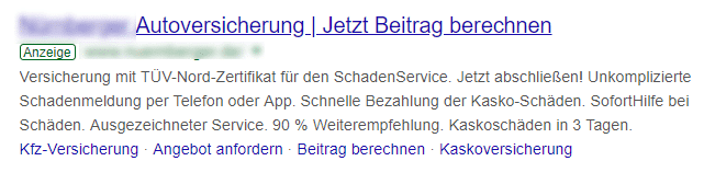 Google-Ads-Beispiel mit Call-To-Action