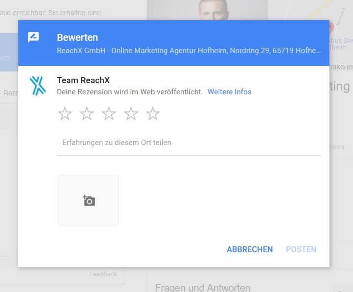 googlebewertung reachx 1 - 8 Tipps, um an Google Bewertungen zu kommen