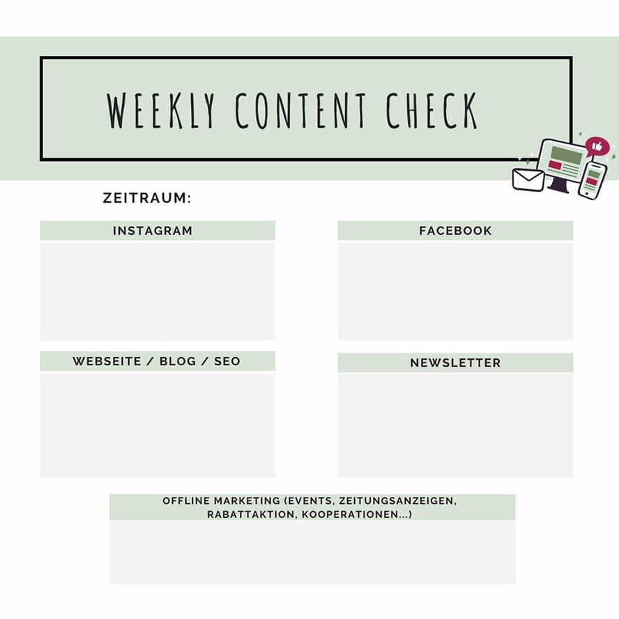 Plane deinen Content für jede Plattform und für jede Woche und setze dir feste Zeitblocker