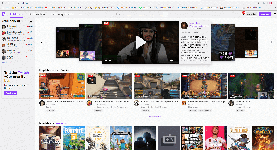 Livestream-Videoportal Twitch