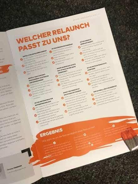 Online-Agentur versendet Print-Zeitschrift