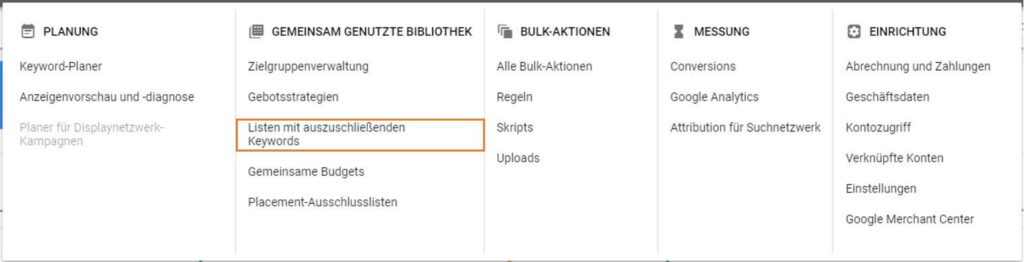 omt google shopping optimierung keyword listen 07 1024x262 - Google Shopping Kampagnen strukturieren – mit Köpfchen