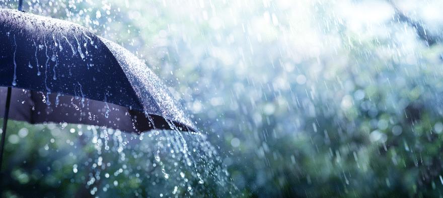 Plötzliche Ereignisse wie Regen sind für Marketer heutzutage Potenzial.