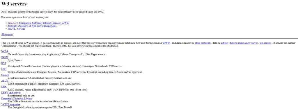 Der Screenshot zeigt eine Auflistung von Verzeichnissen von 1992.