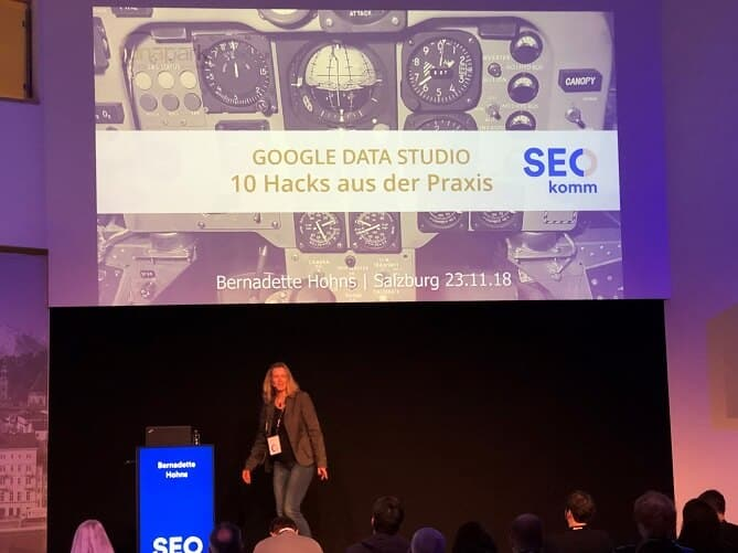 seokomm bernadette hohns google data studio hacks und seo dashboards
