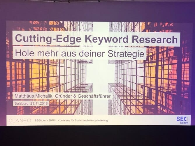 seokomm matthäus michalik cutting edge keyword research hole mehr aus deiner strategie