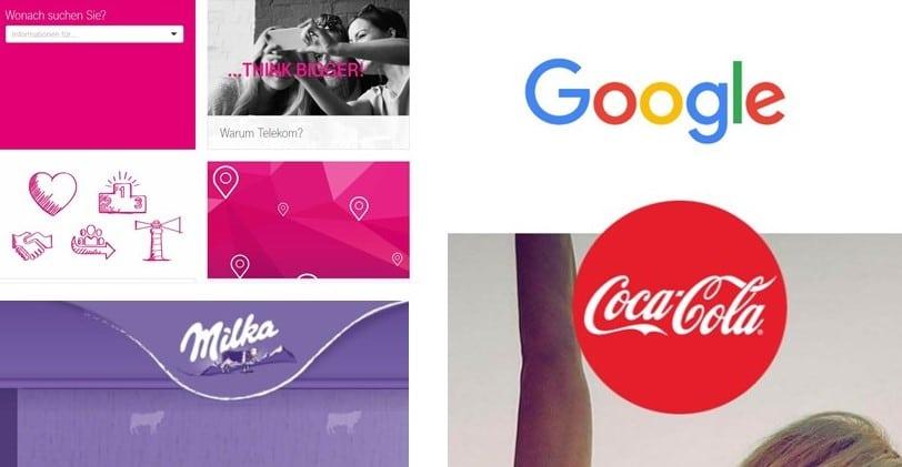 sensorische Wahrnehmung und Erkennung bestimmter Logo und Unternehmensfarben