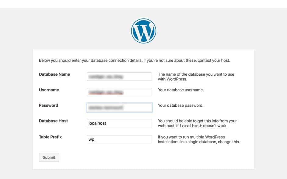 wordpress-datenbankverbindung