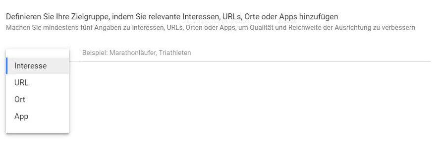 Google-Ads-Zielgruppen mit gemeinsamen Interessen