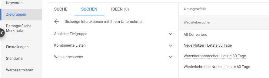 Ähnliche Zielgruppen in Google Ads